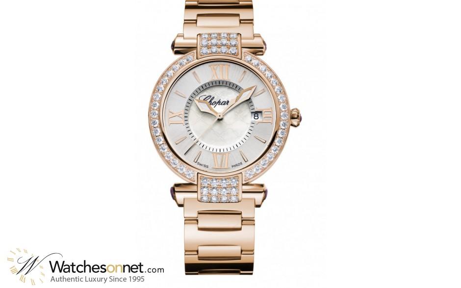 Chopard Imperiale  Quartz Women's Watch, 18K Rose Gold, Silver Dial, 384221-5004