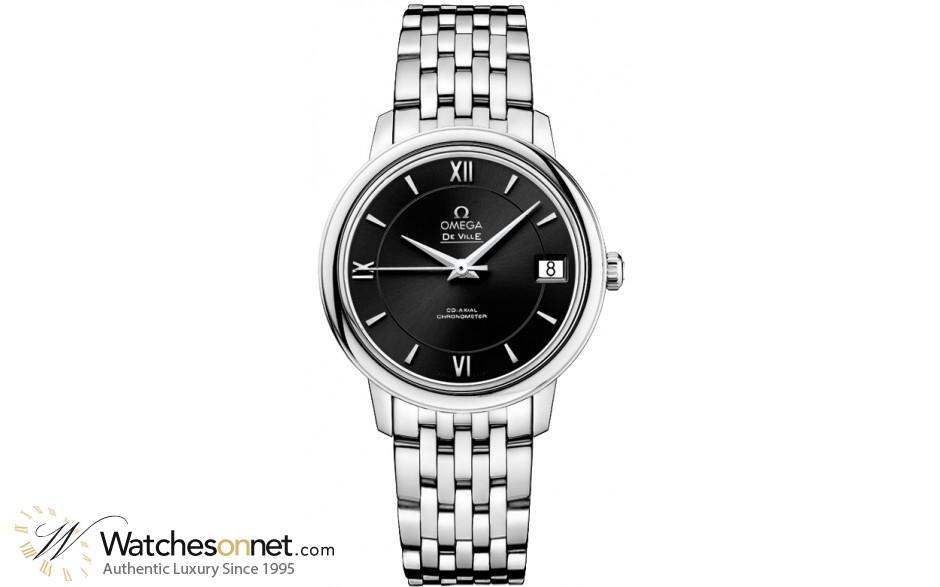 Omega De Ville  Quartz Women's Watch, Stainless Steel, Black Dial, 424.10.33.20.01.001