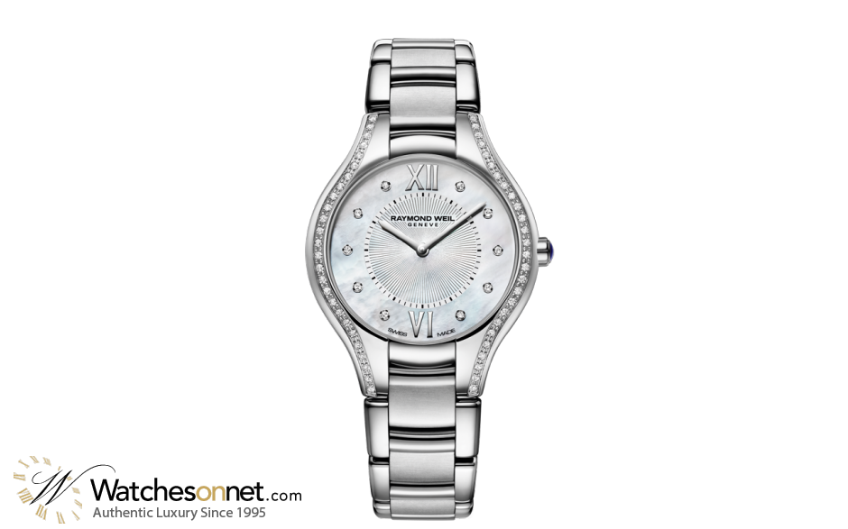 Raymond Weil Noemia  Quartz Women's Watch, Stainless Steel, Mother Of Pearl Dial, 5132-STS-00985