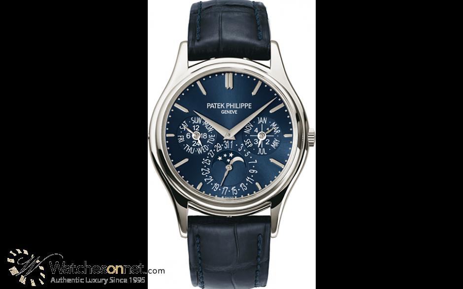 Patek Philippe Grand Complications  Automatic Men's Watch, Platinum, Blue Dial, 5140P-001