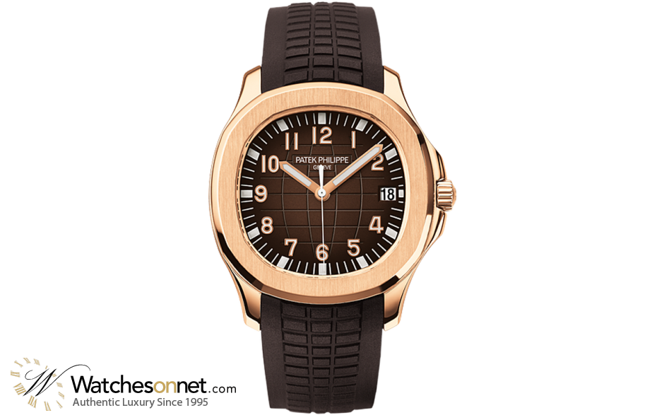 Patek Philippe Aquanaut  Automatic Men's Watch, 18K Rose Gold, Brown Dial, 5167R-001