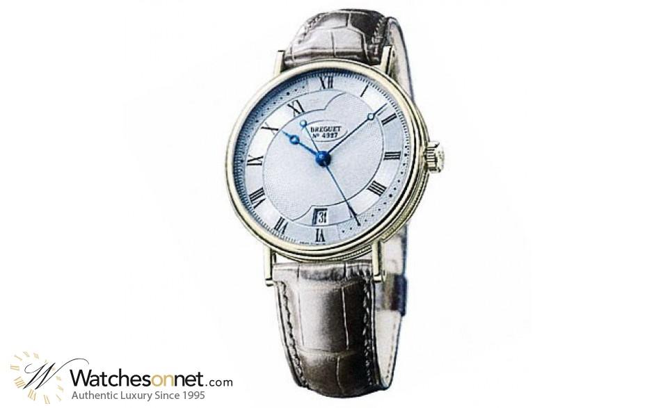 Breguet Classique  Automatic Men's Watch, 18K White Gold, Silver Dial, 5197BB/15/986