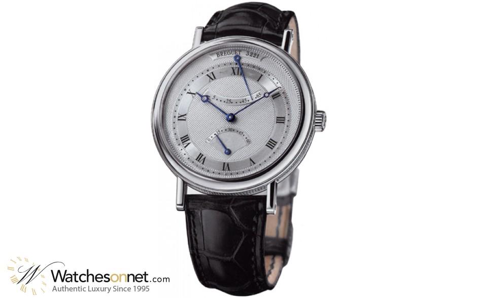 Breguet Classique  Automatic Men's Watch, 18K White Gold, Silver Dial, 5207BB/12/9V6