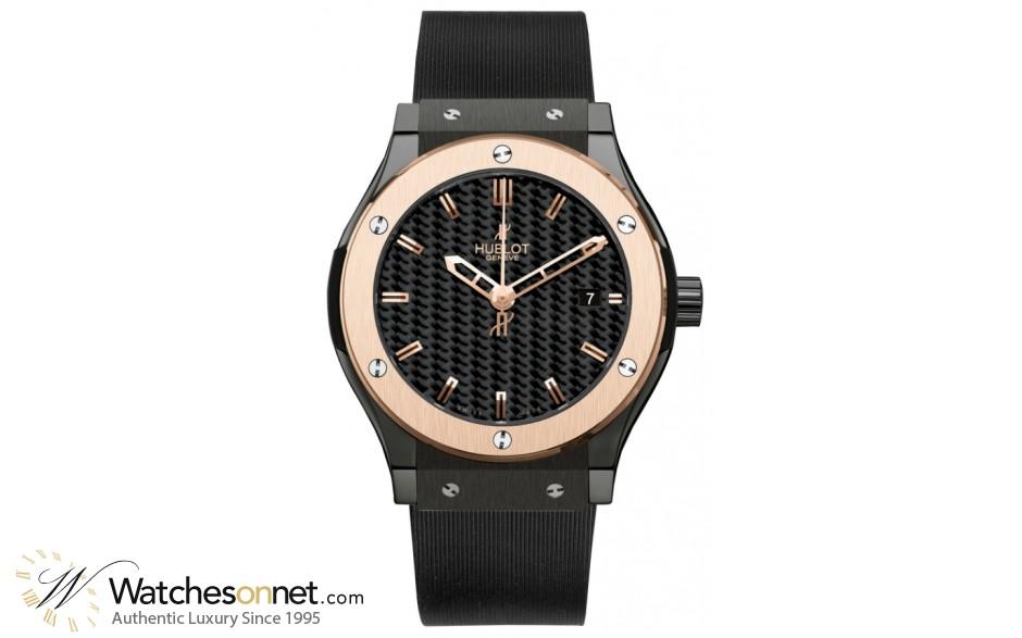Hublot Classic Fusion 42MM  Automatic Certified Men's Watch, Ceramic, Black Dial, 542.CP.1780.RX