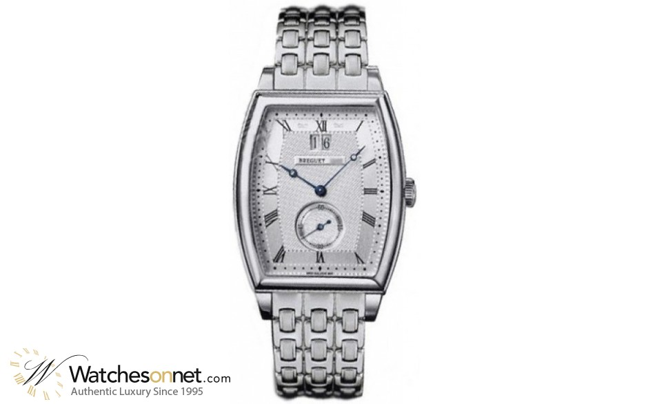 Breguet Heritage  Automatic Men's Watch, 18K White Gold, Silver Dial, 5480BB/12/BB0