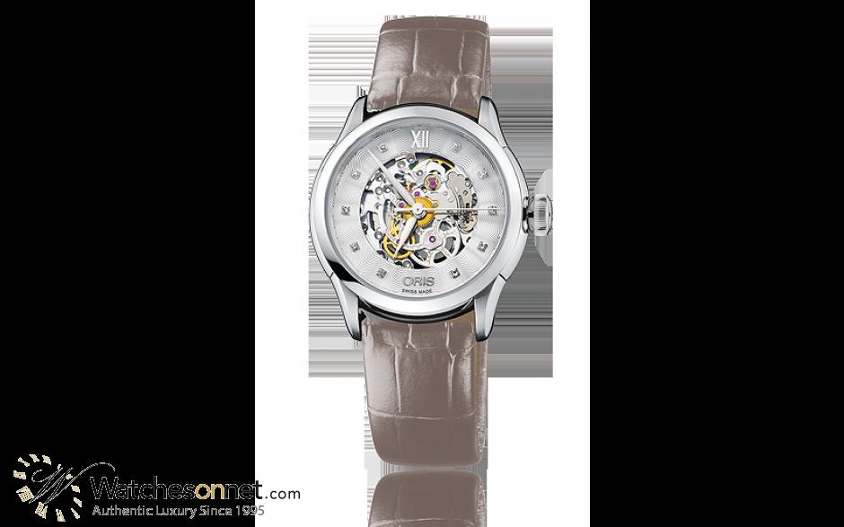 Oris Artelier  Automatic Women's Watch, Stainless Steel, Silver Dial, 560-7604-4019-07-5-16-61FC