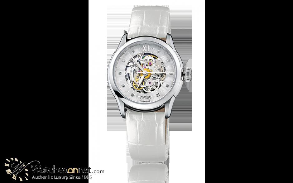 Oris Artelier  Automatic Women's Watch, Stainless Steel, Silver Dial, 560-7604-4019-07-5-16-67FC