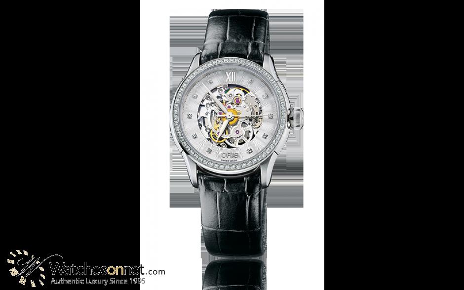 Oris Artelier  Automatic Women's Watch, Stainless Steel, Silver Dial, 560-7604-49-19-07-5-16-60FC
