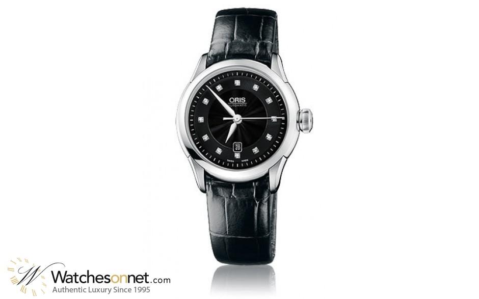 Oris Artelier  Automatic Men's Watch, Stainless Steel, Black Dial, 561-7604-4099-07-5-16-71FC