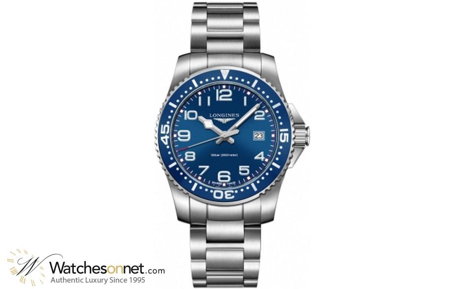 Longines HydroConquest  Quartz Men's Watch, Stainless Steel, Blue Dial, L3.688.4.03.6