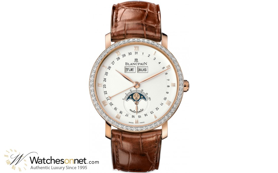 Blancpain Villeret  Automatic Men's Watch, 18K Rose Gold, White Dial, 6263-2942-55B