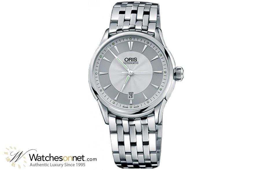 Oris Culture Artelier  Automatic Men's Watch, Stainless Steel, Silver Dial, 733-7591-4051-MB