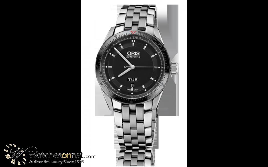 Oris Artix  Automatic Men's Watch, Stainless Steel, Black Dial, 735-7662-4434-07-8-21-85