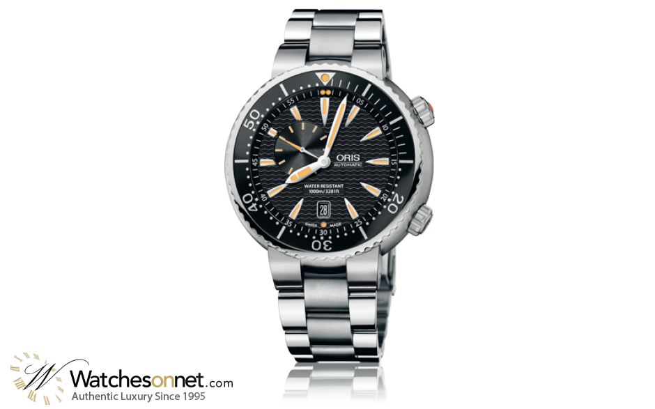Oris Divers Date  Automatic Men's Watch, Stainless Steel, Black Dial, 743-7609-8454-07-8-24-01PEB