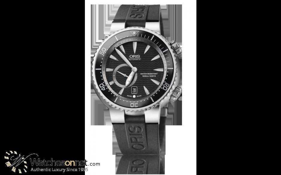 Oris Divers Date  Automatic Men's Watch, Titanium, Black Dial, 743-7638-7454-07-4-24-34TEB