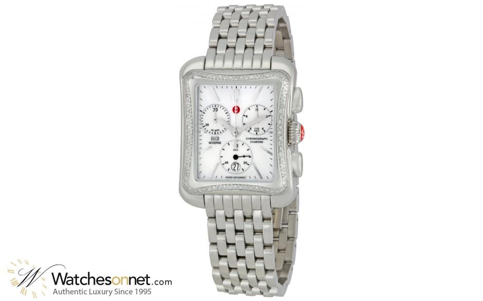 Michele Deco  Quartz Women's Watch, Stainless Steel, White Dial, MWW06U000001