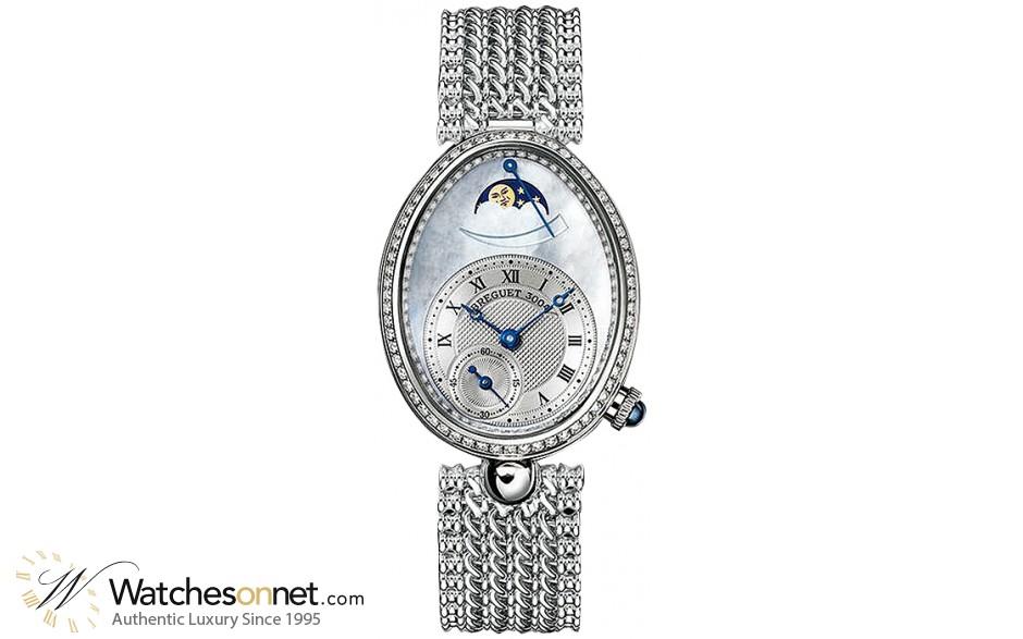 Breguet Reine De Naples  Automatic Women's Watch, 18K White Gold, Mother Of Pearl & Diamonds Dial, 8908BB/52/J20.D000
