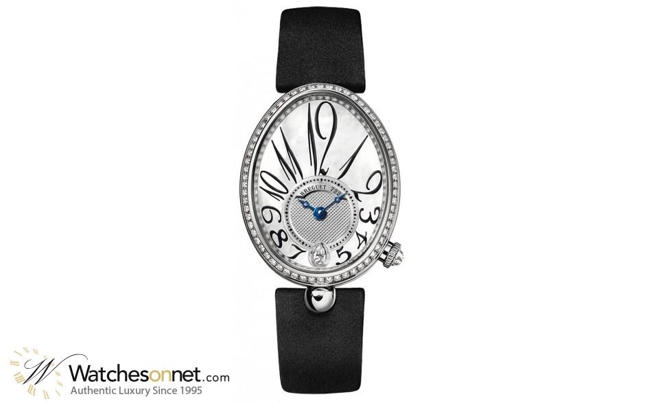 Breguet Reine De Naples  Automatic Women's Watch, 18K White Gold, Mother Of Pearl & Diamonds Dial, 8918BB/58/864.D00D