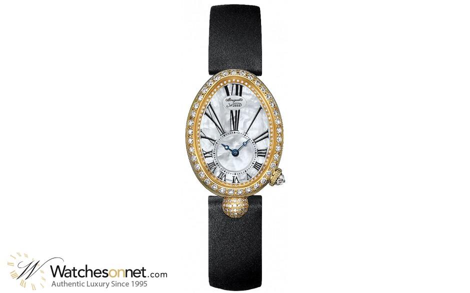 Breguet Reine De Naples  Automatic Women's Watch, 18K Yellow Gold, Mother Of Pearl & Diamonds Dial, 8928BA/51/844.DD0D