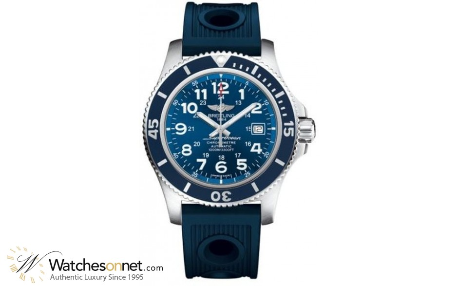 Breitling Superocean II 44  Automatic Men's Watch, Stainless Steel, Blue Dial, A17392D8.C910.211S