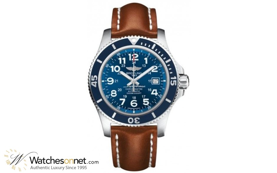 Breitling Superocean II 44  Automatic Men's Watch, Stainless Steel, Blue Dial, A17392D8.C910.434X