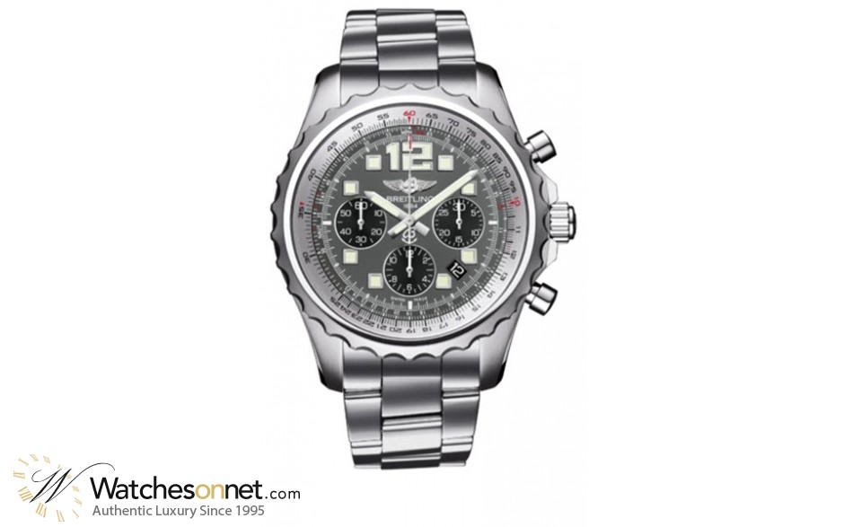 Breitling Chronospace  Chronograph Automatic Men's Watch, Stainless Steel, Grey Dial, A2336035.F555.167A