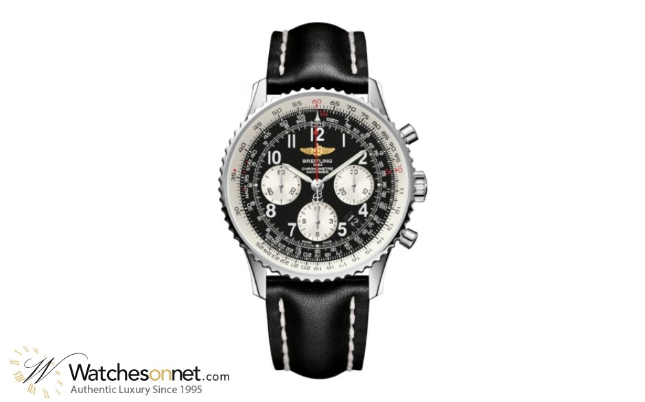Breitling Navitimer 01  Chronograph Automatic Men's Watch, Stainless Steel, Black Dial, AB012012.BB02.436X