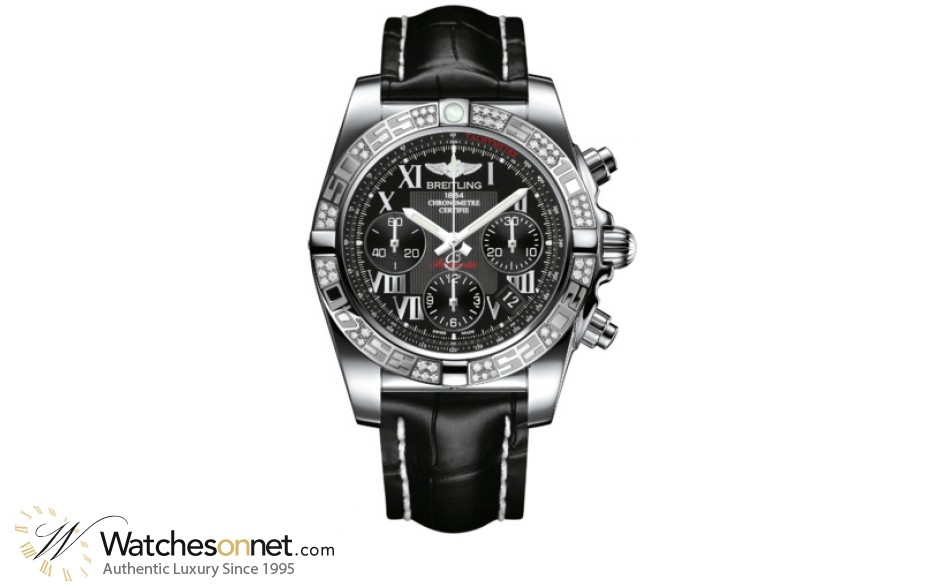 Breitling Chronomat 41  Chronograph Automatic Men's Watch, Stainless Steel, Black Dial, AB0140AA.BC04.728P