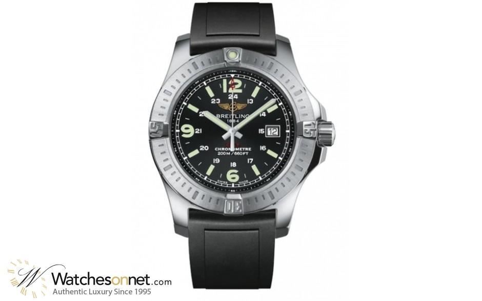 Breitling Colt  Super-Quartz Men's Watch, Stainless Steel, Black Dial, A7438811.BD45.131S