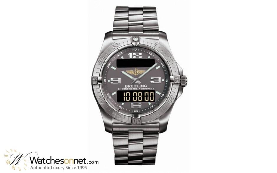 Breitling Aerospace Evo  Quartz Men's Watch, Titanium, Grey Dial, E7936210.M513.130E