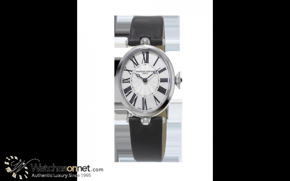 Frederique Constant Art Deco  Quartz Women's Watch, Stainless Steel, Silver Dial, FC-200MPW2V6