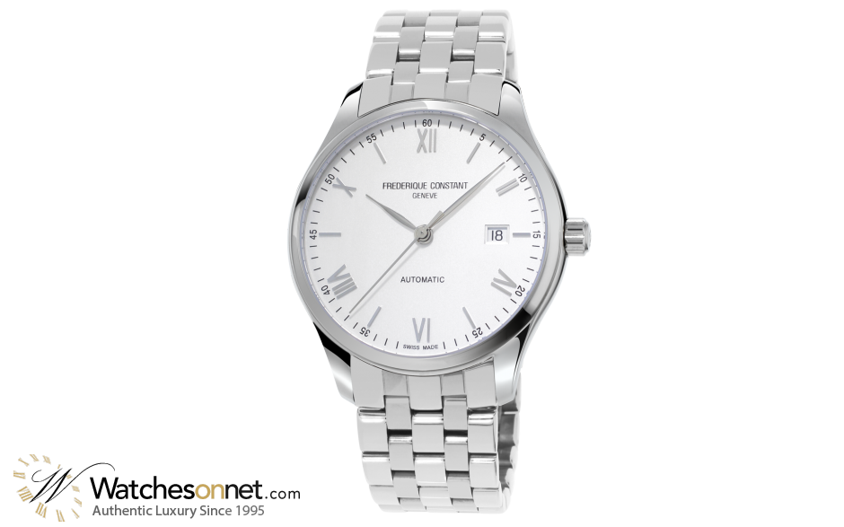 Frederique Constant Classics Index  Automatic Men's Watch, Stainless Steel, Silver Dial, FC-303WN5B6B