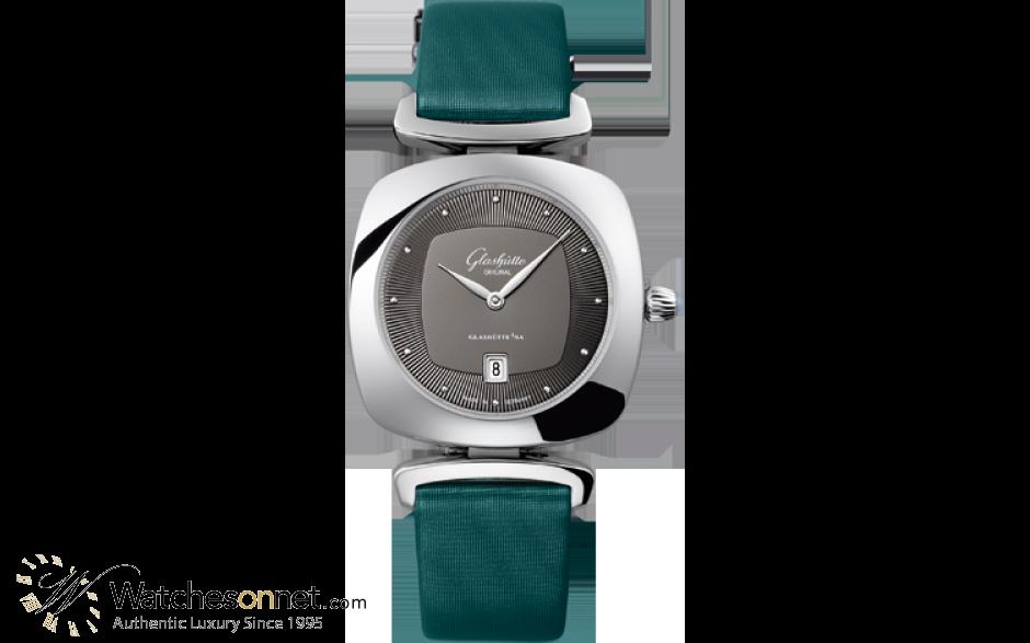 Glashutte Original Pavonina  Quartz Women's Watch, Stainless Steel, Grey Dial, 1-03-01-14-02-04