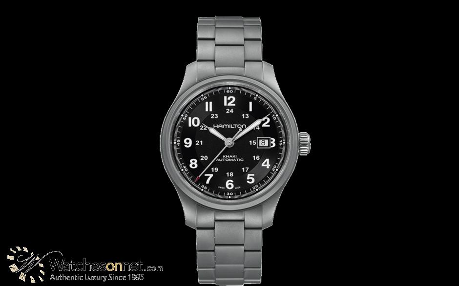 Hamilton Field  Automatic Men's Watch, Titanium, Black Dial, H70565133