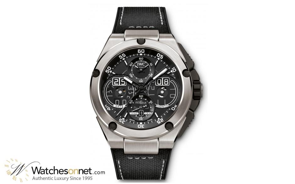 IWC Ingenieur  Chronograph Automatic Men's Watch, Titanium, Black Dial, IW379201