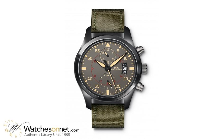 IWC Pilots  Chronograph Automatic Men's Watch, Titanium, Grey Dial, IW388002