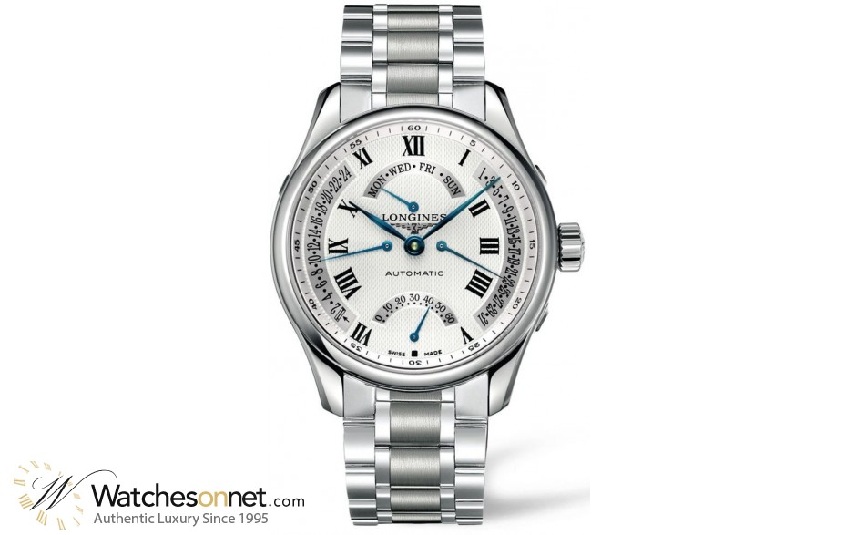 Longines Master  Automatic Men's Watch, Stainless Steel, White Dial, L2.717.4.71.6
