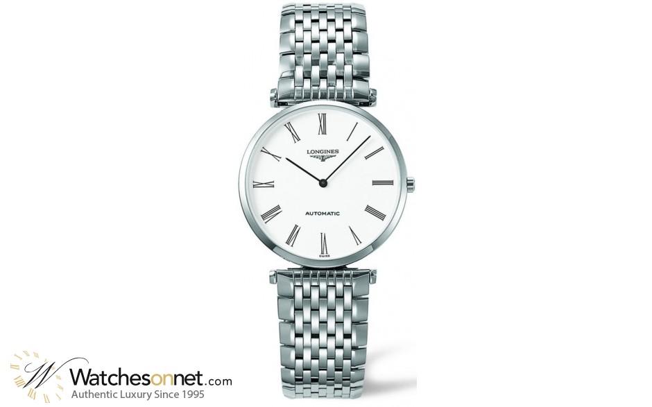 Longines La Grande Classique  Automatic Men's Watch, Stainless Steel, White Dial, L4.708.4.11.6