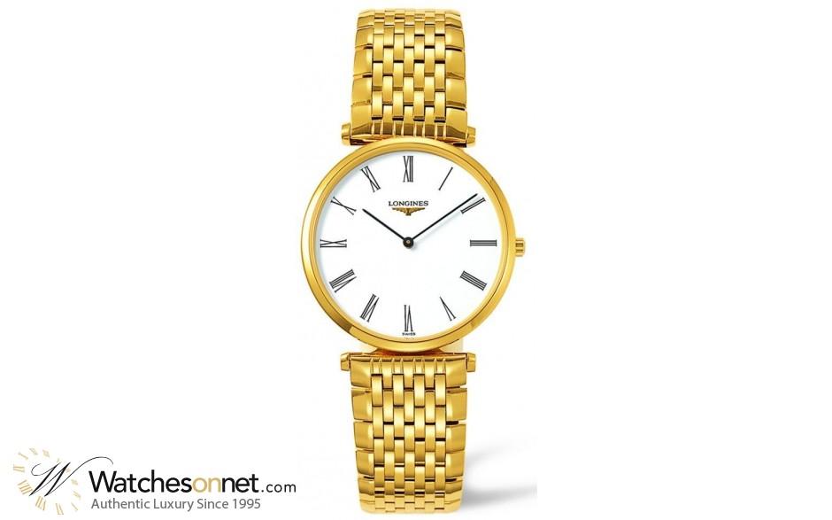 Longines La Grande Classique  Quartz Men's Watch, Gold Tone, White Dial, L4.709.2.11.8