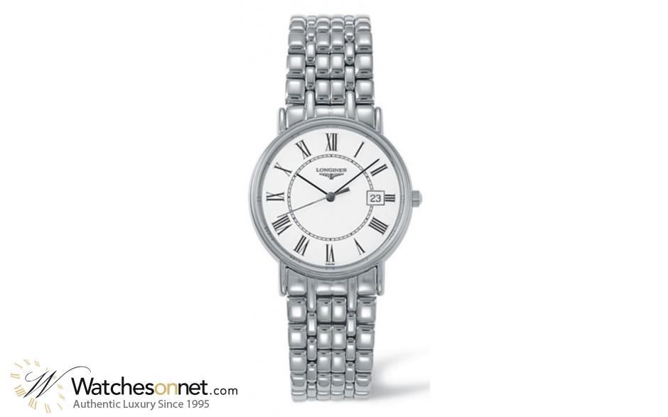 Longines La Grande Classique  Quartz Men's Watch, Steel & 18K Rose Gold, White Dial, L4.720.4.11.6