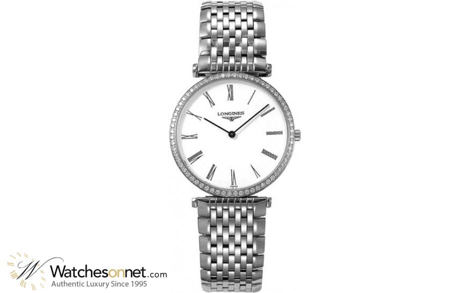 Longines La Grande Classique  Quartz Men's Watch, Steel & 18K Rose Gold, White Dial, L4.741.0.11.6