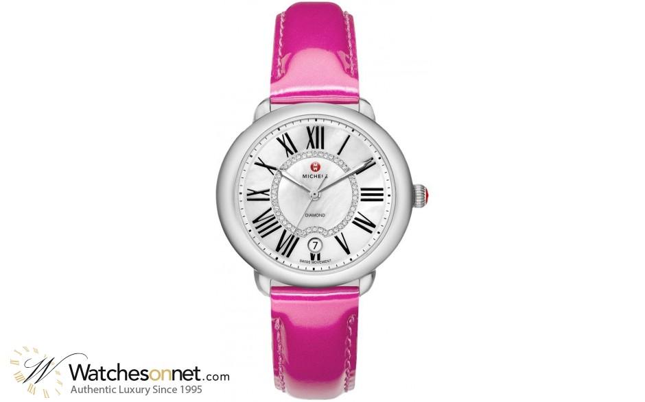 Michele Serein  Quartz Women's Watch, Stainless Steel, Mother Of Pearl & Diamonds Dial, MWW21B000014