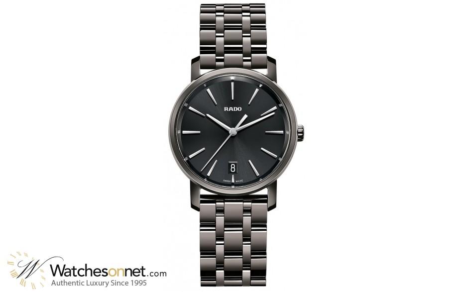 Rado Diamaster  Quartz Unisex Watch, Ceramic, Black Dial, R14064177