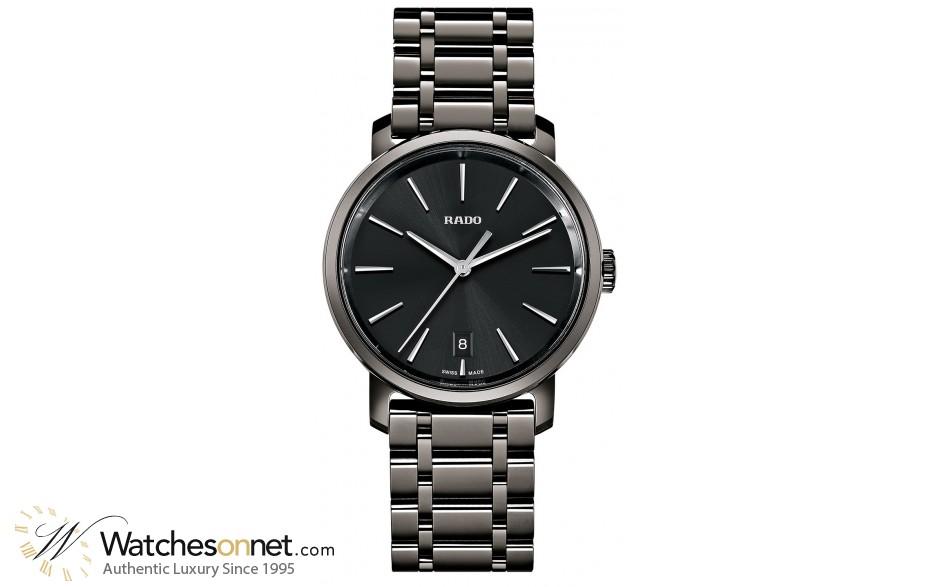 Rado Diamaster  Quartz Unisex Watch, Ceramic, Black Dial, R14072177