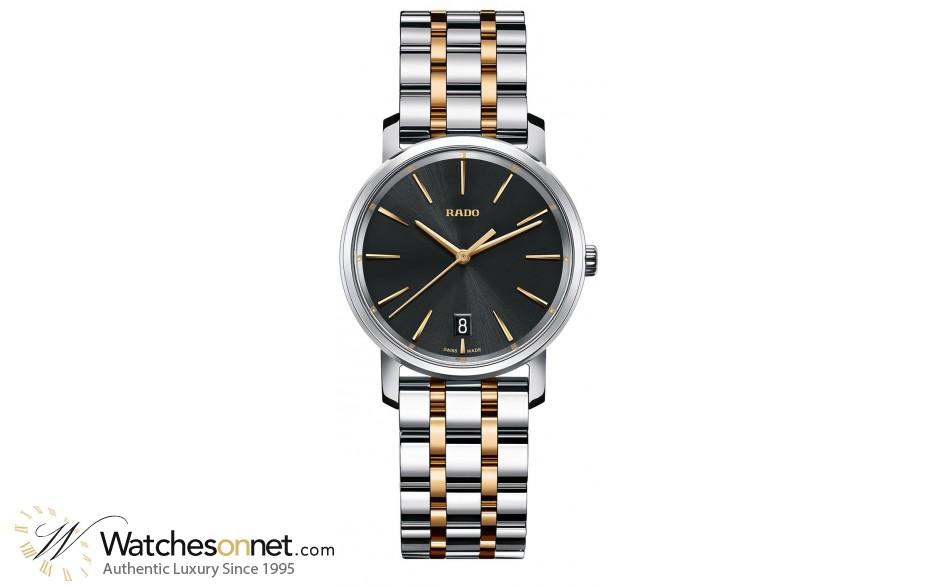 Rado Diamaster  Quartz Unisex Watch, Stainless Steel, Black Dial, R14089163
