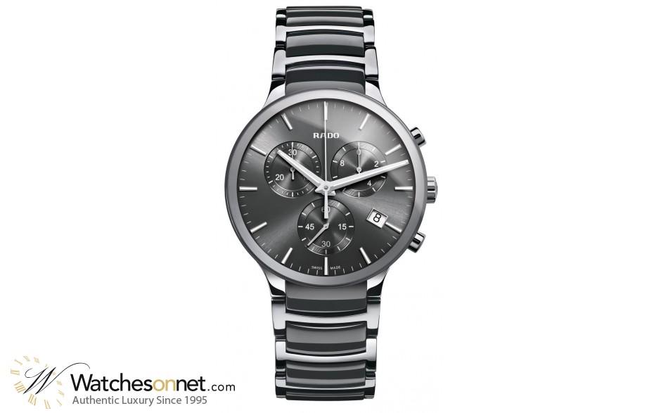 Rado Centrix  Quartz Men's Watch, Ceramic, Grey Dial, R30122122