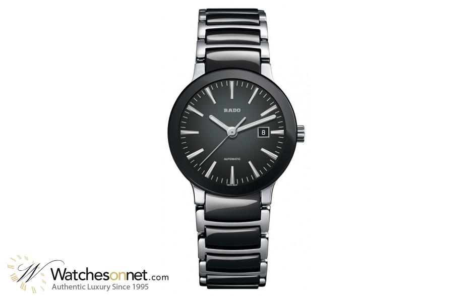 Rado Centrix  Automatic Women's Watch, Stainless Steel, Black Dial, R30942152