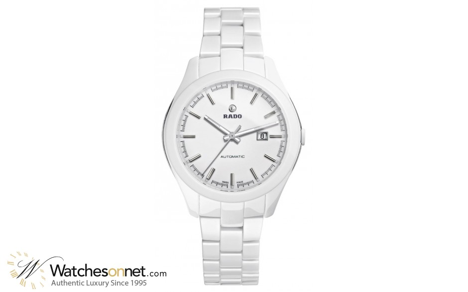 Rado Hyperchrome  Automatic Women's Watch, Ceramic, White Dial, R32258012