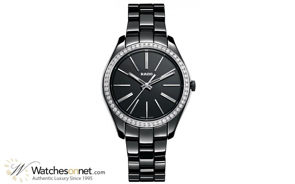 Rado Hyperchrome  Quartz Women's Watch, Ceramic, Black Dial, R32312152