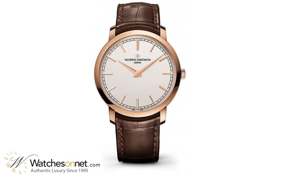 Vacheron Constantin Patrimony Traditionnelle  Automatic Men's Watch, 18K Rose Gold, Silver Dial, 43075/000R-9737